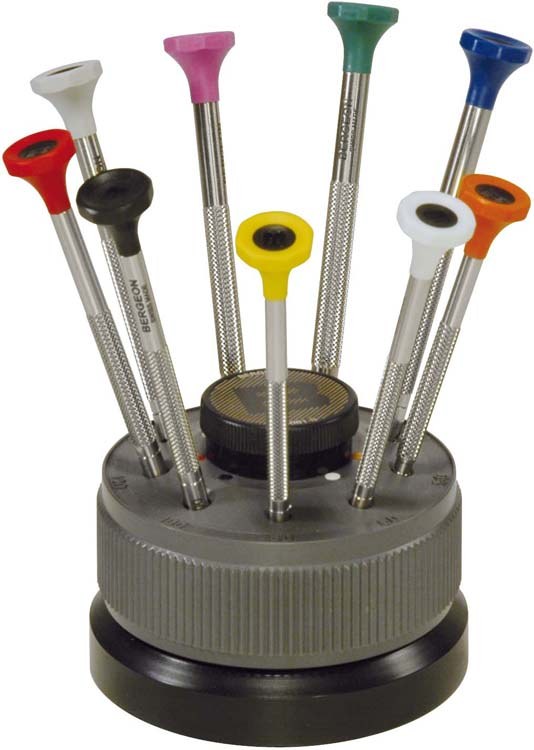 Bergeon Screwdriver Set of 9pcs in Rotating Base ref.30081-S09